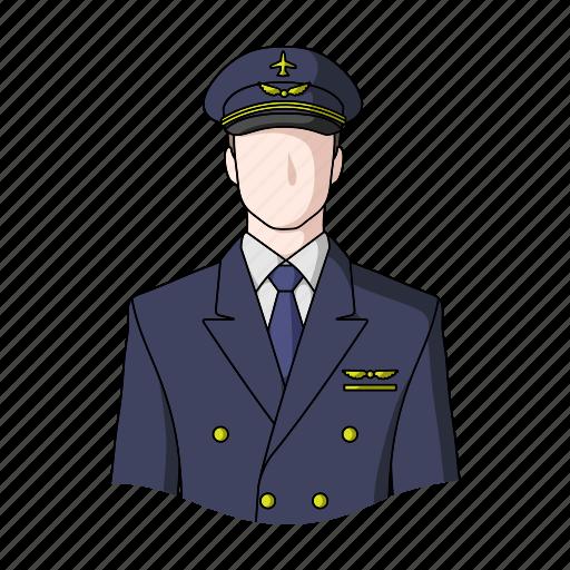 appearance, aviator, image, man, person, pilot, profession icon