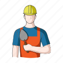 appearance, bricklayer, image, man, person, profession, worker icon