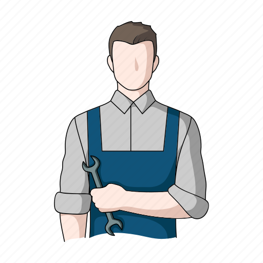appearance, image, man, mechanic, person, profession, worker icon