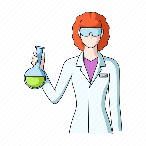 appearance, chemist, image, laboratory assistant, person, profession, woman icon