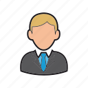 businessman, consultant, executive, manager icon, professions, suit, tie