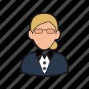 businesswoman icon, consultant, executive, manager, professions, secretary icon