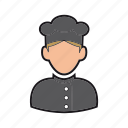 chef icon, cook, food, hat, kitchen, professions, restaurant icon