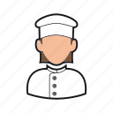 chef icon, cook, hat, kitchen, professions, restaurant, woman icon