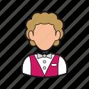 bellboy icon, bellhop, concierge, hotel, professions icon