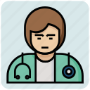 avatar, doctor, profession icon