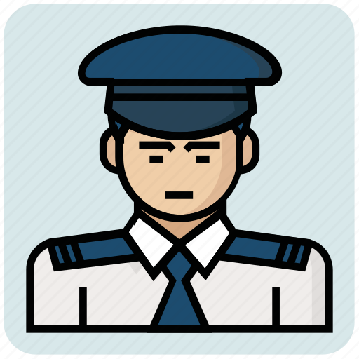 inspector, pilot, profession icon