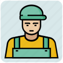 avatar, cap, engineer, people, profession