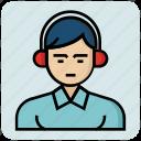 avatar, headphone, man, profession, service