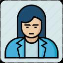 avatar, employee, female, profession