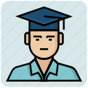 avatar, bachelor, graduation, profession, student