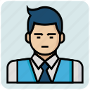 avatar, boss, man, profession icon