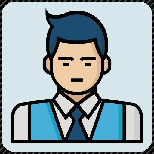 avatar, boss, man, profession icon