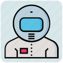 astronaut, avatar, occupation, profession, space station icon