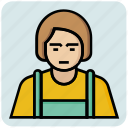 avatar, female, profession, tailor icon