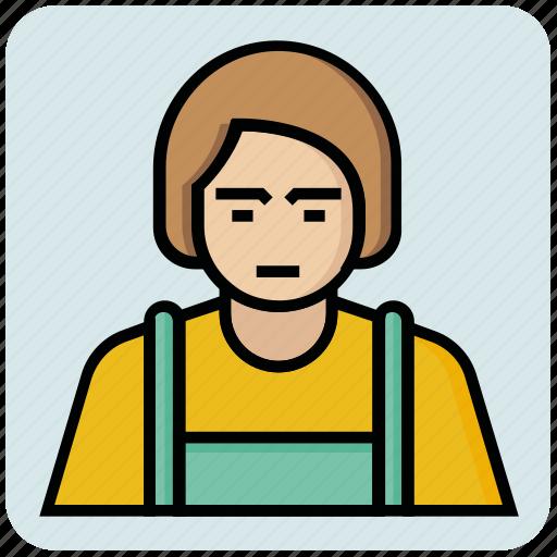 avatar, female, profession, tailor icon