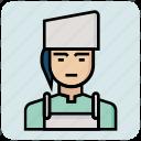avatar, female, job, profession icon