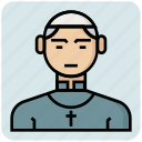 avatar, church, father, man, profession icon