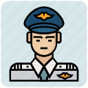 avatar, inspector, pilot, police, profession icon