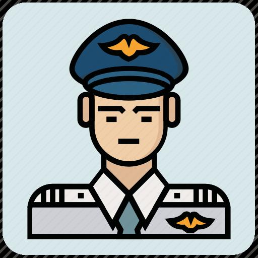 avatar, inspector, pilot, police, profession icon