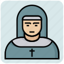 avatar, catholic, church, female, nun, profession, sister