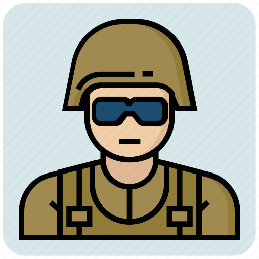 army, avatar, force, profession, soldier icon