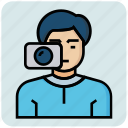 avatar, man, photographer, profession