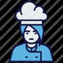 avatar, chef, cook, female, profession