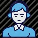 avatar, headphone, man, profession, service icon