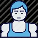 avatar, body builder, man, profession icon