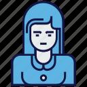 avatar, composer, female, job, profession icon