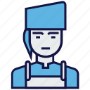 avatar, female, job, profession icon