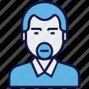 avatar, clerk, man, profession icon