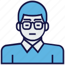 avatar, employee, man, profession icon