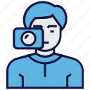 avatar, man, photographer, profession icon