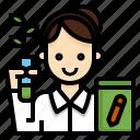 agricultural, avatar, botanist, consultant, farmer, woman icon