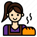 baker, bakery, homemade, occupation, profession icon