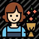florist, flower, gardener, occupation, profession, woman