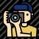 occupation, photographer, profession, traveller, utuber, vlogger icon