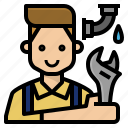 fix, occupation, plumber, profession, skill icon