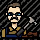 avatar, craft, man, occupation, profession, shoemaker, skill icon
