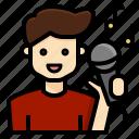 avatar, karaoke, man, rockstar, singer, vocalist