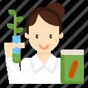 agricultural, avatar, botanist, consultant, farmer, woman