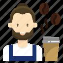 avatar, barista, coffee, man, occupation, profession