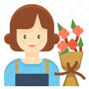 florist, flower, gardener, occupation, profession, woman