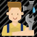 fix, occupation, plumber, profession, skill icon