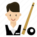 man, player, profession, snooker, sport