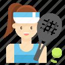 player, profession, sport, tennis, woman