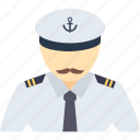 boat, captain, nautical, occupation, ocean, pilot, ship icon