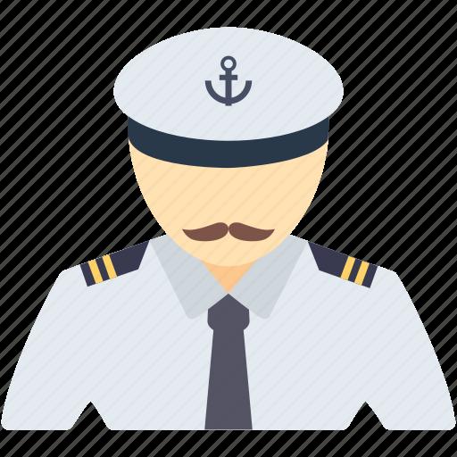 boat, captain, nautical, occupation, ocean, pilot, ship icon